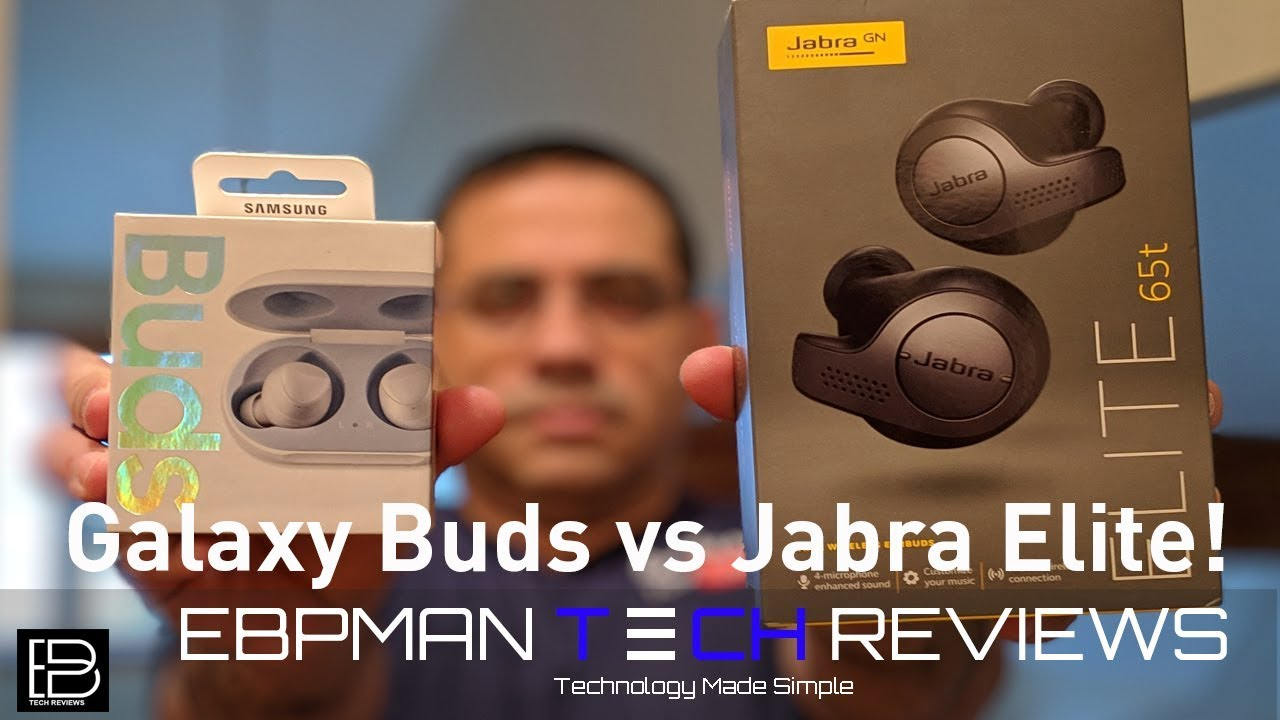 Samsung Galaxy Buds True Wireless Earbuds Vs Jabra Elite 65t Youtube