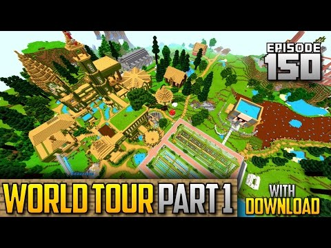 Let's Play Minecraft PE - Ep.150 : World Tour + Download Part 1