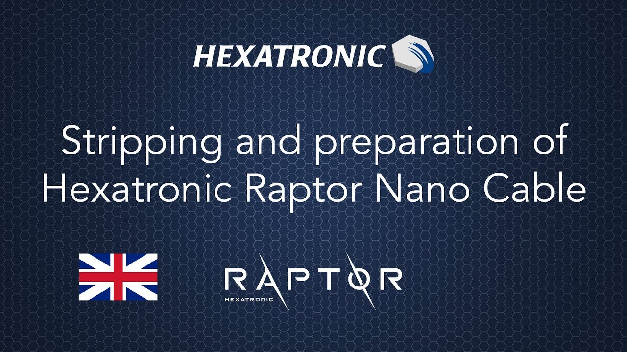 Stripping and preparation of Hexatronic Raptor Nano Cable - YouTube