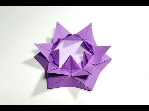 Origami flower. Origami Candle holder . Easter decoration ideas
