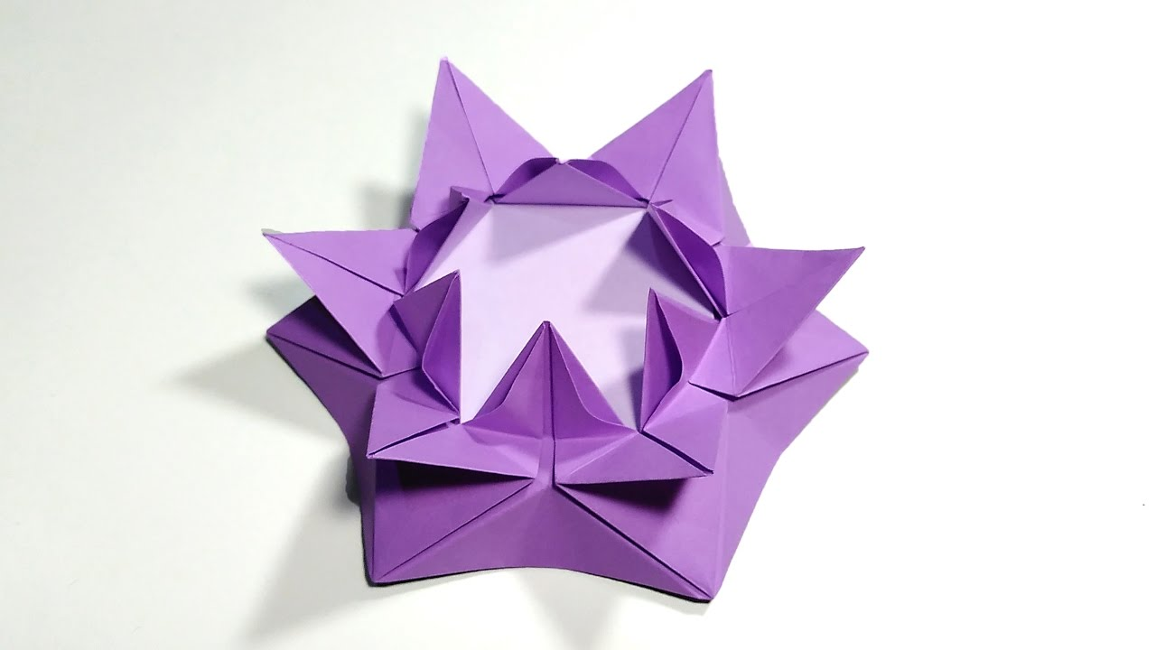 Origami amazing flower . Origami Candle holder for romantic