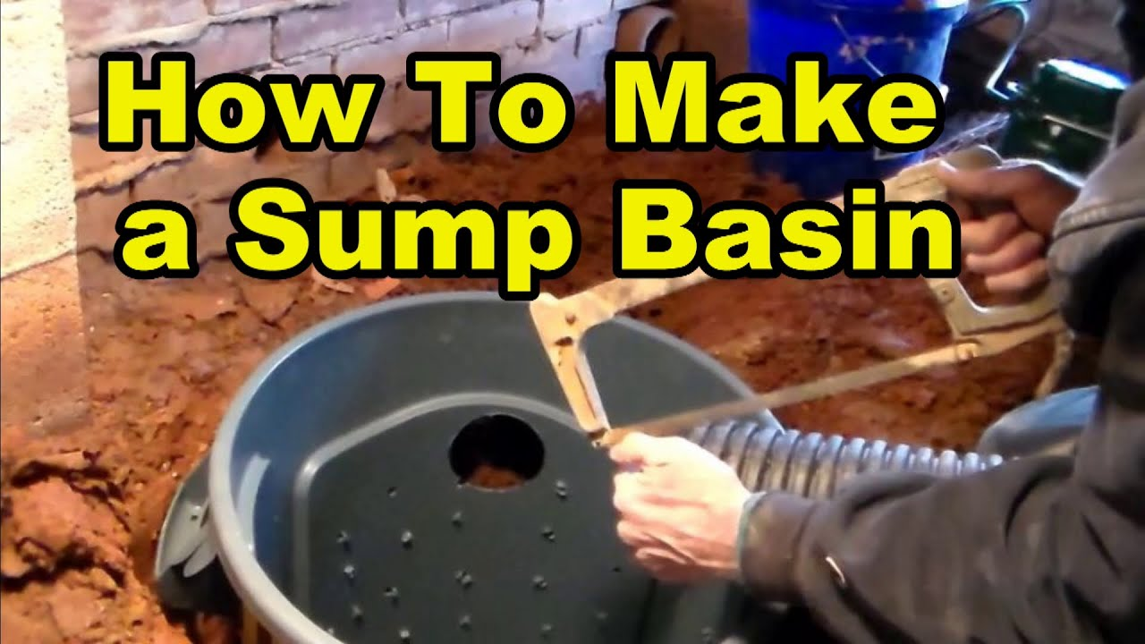 How To Make A Sump Pump Basin From 32 Gal Trash Can Youtube
