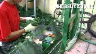 видео Производство искусственных елок