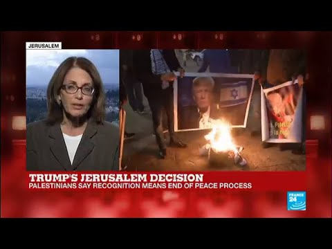 US Embassy relocation to Jerusalem: Hundreds gather in Gaza burning photos of Trump