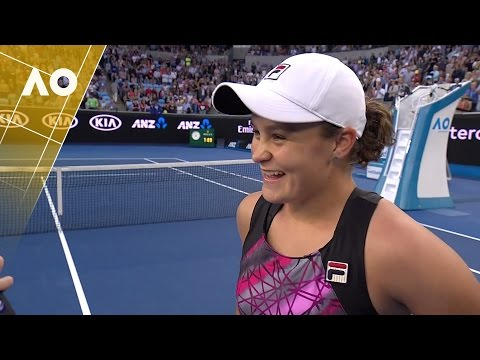 Ashleigh Barty on court interview (2R) | Australian Open 2017