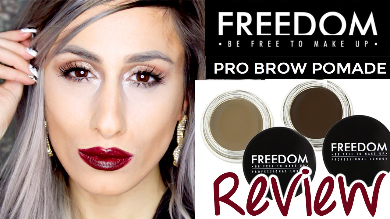 new freedom makeup pro brow pomade review swatches. Black Bedroom Furniture Sets. Home Design Ideas