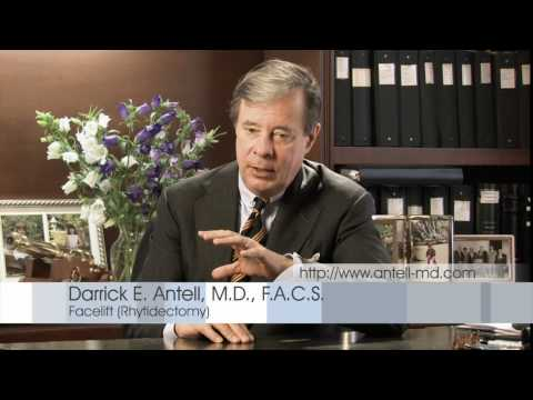 Dr. Antell, New York Plastic Surgeon explains facelift procedure