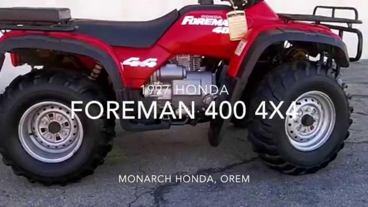 1997 Honda Foreman 400 4x4 Youtube
