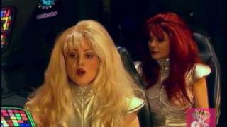 Space Girls crash land on earth on their quest to find suitable males.