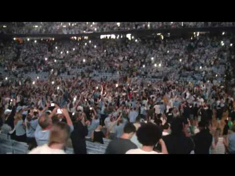UNC fans start to storm Dean Smith Center court as NCAA Championship Game nears end