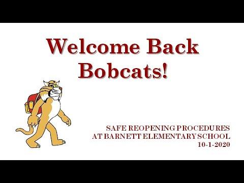 Safe Reopening Procedures at Barnett Elementary School