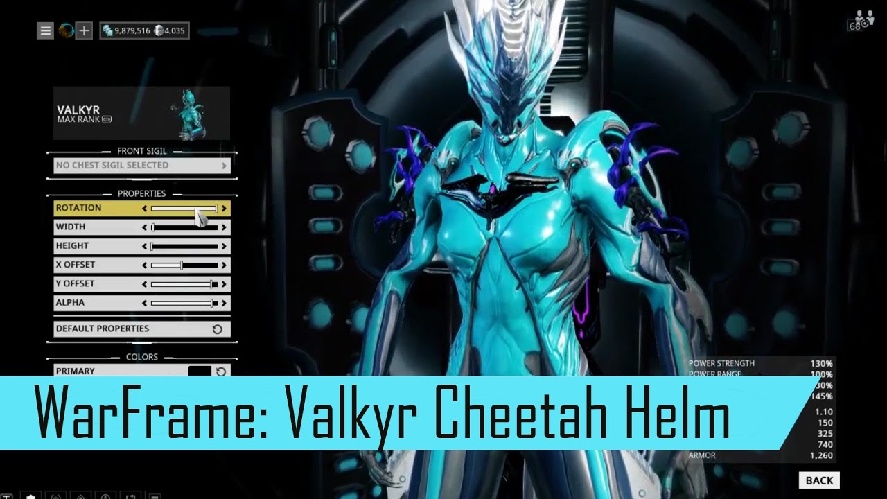 Warframe: Cheetah Tennogen Helmet for Valkyr - Fashion Frame - YouTube