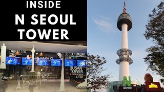 Inside N Seoul Tower Tour | Korea Travel Vlog