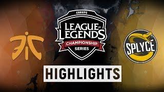 FNC vs. SPY - EU LCS Week 5 Day 2 Match Highlights (Spring 2018)