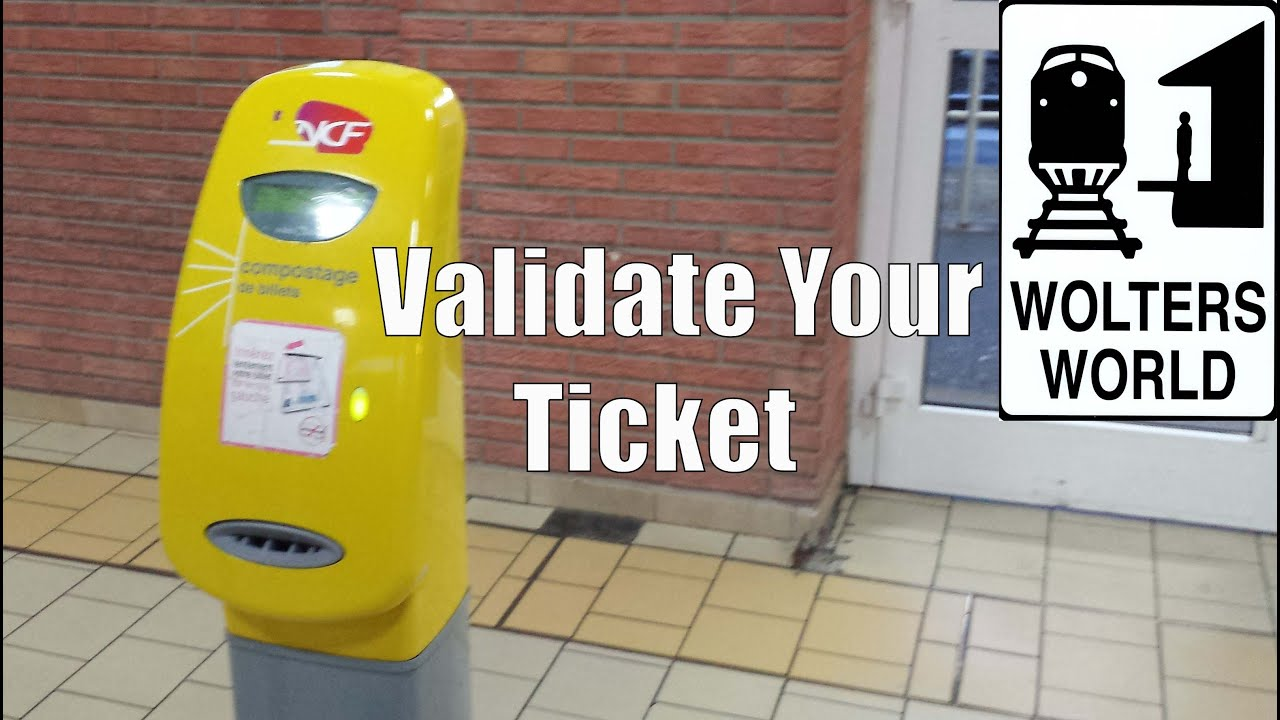 Validating train tickets in berlin