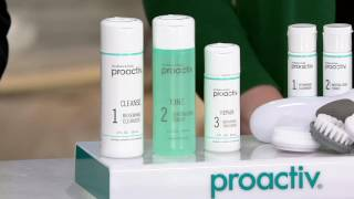 Proactiv 3pc Acne System with Brush & Travel Kit Auto-Delivery on QVC