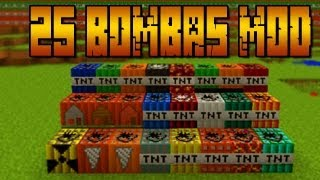Repeat youtube video +25 Bombas!! NUCLEAR MOD - MINECRAFT Mod