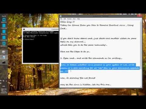Remove Shortcut virus using 'cmd'