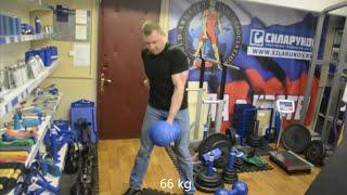 Александр Семенцов. Гантели СИЛАРУКОВ 42, 54, 66 кг и блобы.
