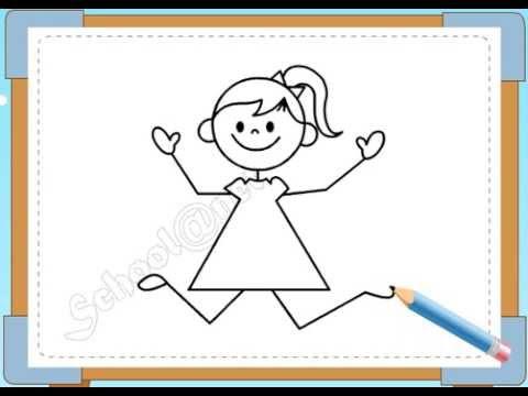 BÉ HỌA SĨ - Thực hành tập vẽ 97: Vẽ bé gái