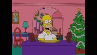 Homer canta la sigla di Morioh Cho Radio mentre punisce per l'ultima volta Luca Bottale