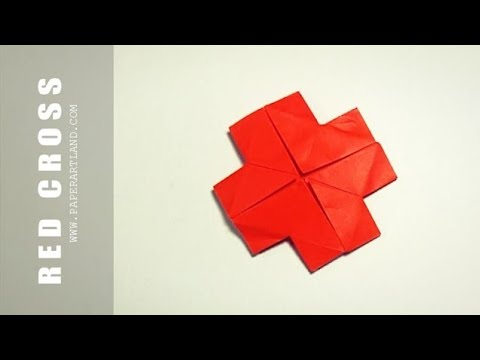How to Make an Origami Red Cross