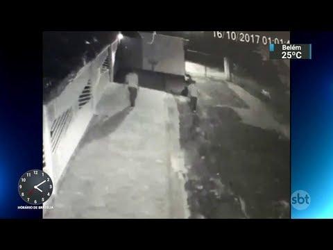 SBT tem acesso a imagens exclusivas de ataque a carro-forte em SP | SBT Notícias (19/10/17)