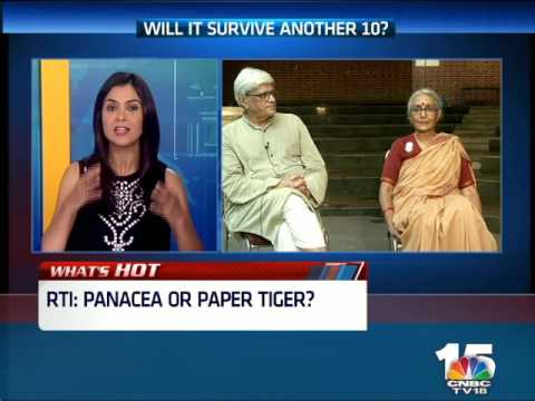 RTI: PANACEA OR PAPER TIGER? Aruna Roy & Gopal Krishna Gandhi Interview