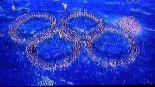видео: Олимпийские кольца на церемонии закрытия Сочи 2014