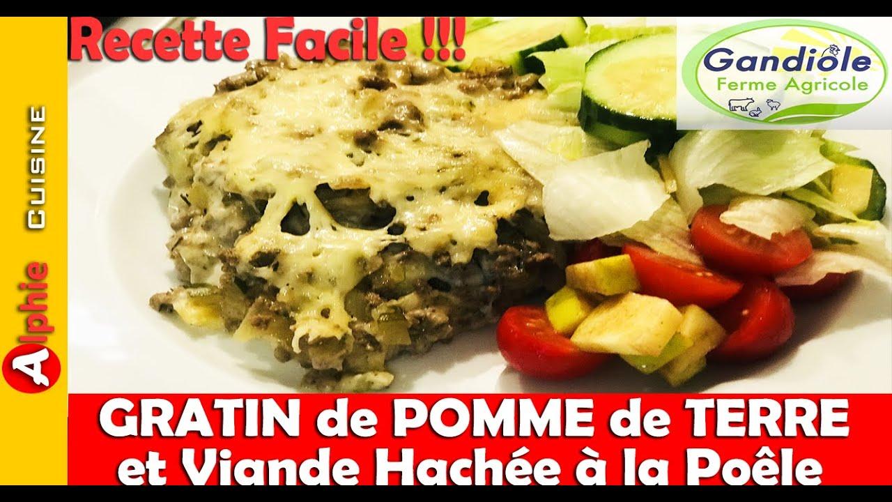 GRATIN de POMME de TERRE et VIANDE HACHÉE à la Poêle - Recette Gandiole Facile !!!
