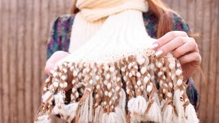 Makeover A Plain Scarf With Fringe And Suede - Diy Style - Guidecentral