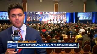 Vice President Mike Pence visits Milwaukee