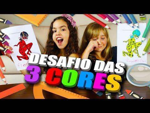 ELOAH E LUIZA GATTAI NO DESAFIO COLORINDO COM 3 CORES