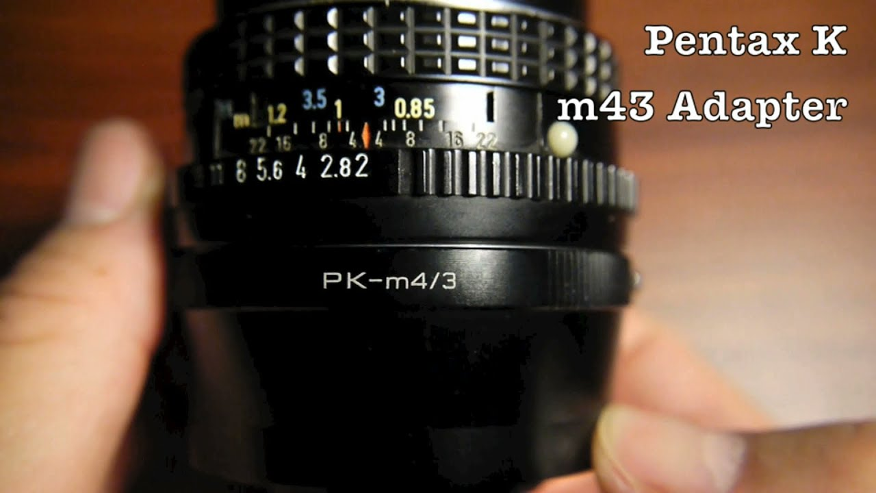 Pentax K Lens to Micro Four Thirds Adapter For m4/3 Mirrorless Camera  Systems - Panasonic / Olympus