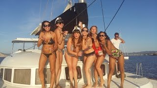 Ibiza hen do bachelorette parties catamaran