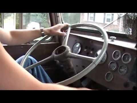Twin stick shifting 66 peterbilt V8 Cummins