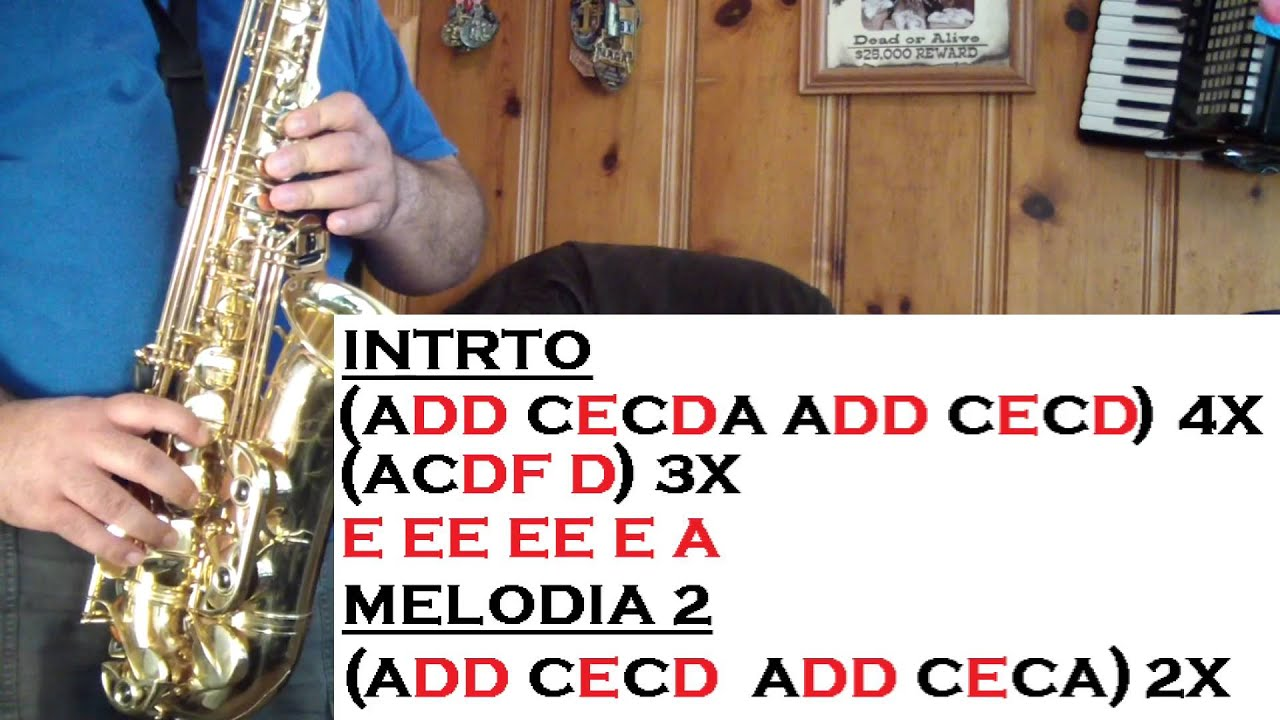 How To Play Tequila On Alto Sax - Exploring Mars