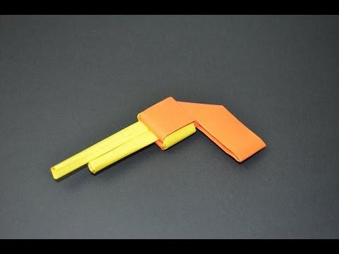 Como hacer una pistola de papel -  juguete de papel