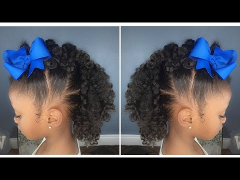 Curly Fro Hawk Tutorial Kids Natural Hairstyle Iamawog Youtube