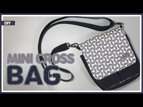 DIY/ MINI CROSS BAG/ MESSENGER BAG/ 미니 메신저백/ 크로스백 만들기/ sewing/ tutorial[Tendersmile Handmade/ 텐더스마일]