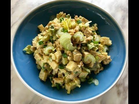 ПП салат с курицей   Диетический салат с куриным филе, яблоком и черешковым сельдереем