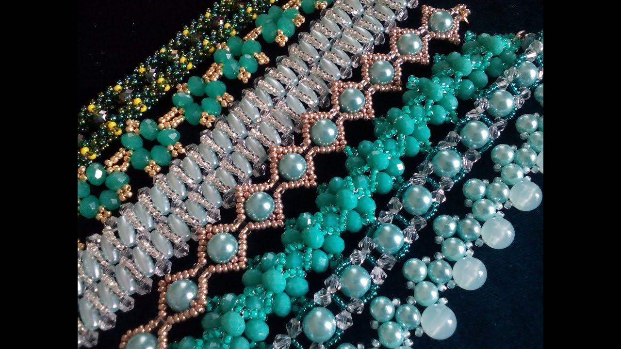 My green jewelry. Мои украшения из бисера и бусин