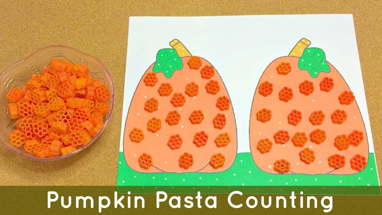 Pumpkin Pasta Counting Preschool And Kindergarten Math And
