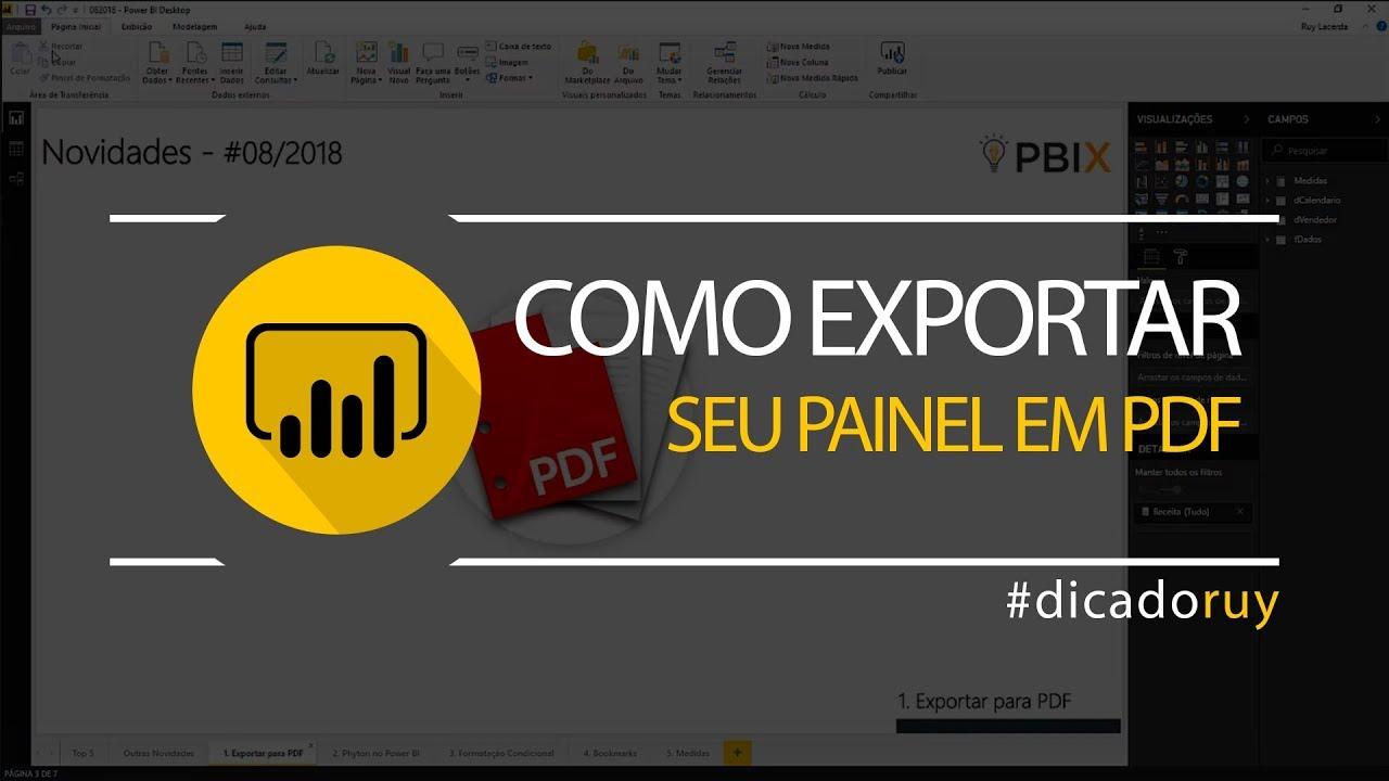 Power BI Tips - Como exportar seu painel em PDF?