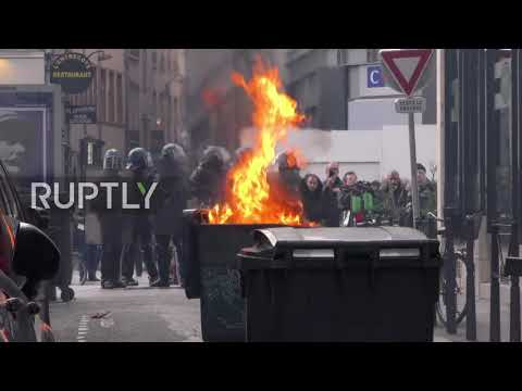 France: Lyon's 'Yellow Vest' Protest Marred By Tear Gas And Clashes