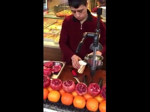 Fresh Juice at Grand Bazaar Istanbul, Turkey