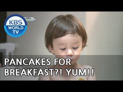 Pancakes for breakfast?! YUM!  [The Return of Superman/2018.08.12]