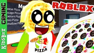 OREO PIZZA! I've got waffle face! [Roblox]