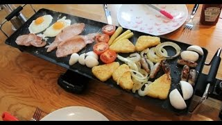 Electric Teppanyaki Barbecue Table Grill Xl By Andrew James [review & Demo] English Breakfast!!