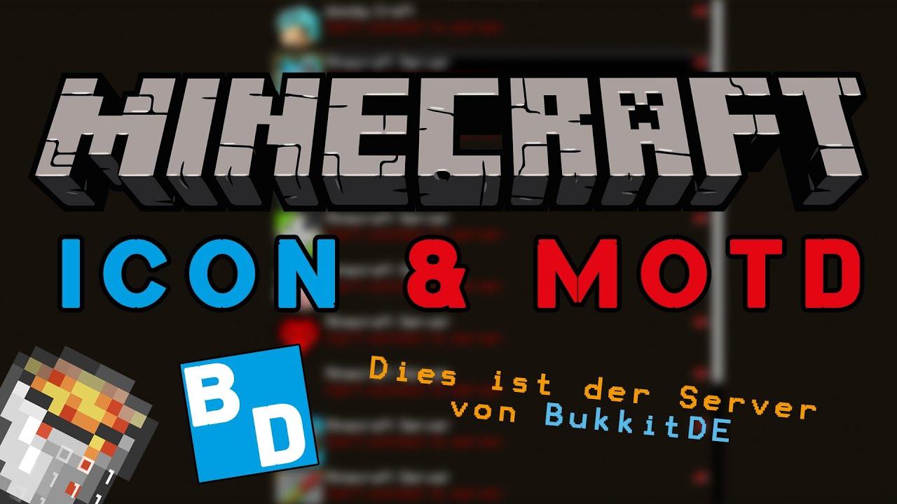 Minecraft Server Icon Server MOTD ändern Spigot Bukkit YouTube - Minecraft namen immer andern